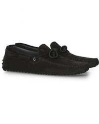 Tod's Laccetto Gommino Carshoe Black Suede men UK10 - EU44,5 Sort