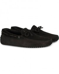 Tod's Laccetto Gommino Carshoe Black Suede men UK7,5 - EU41,5 Sort