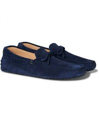 Tod's Laccetto Gommino Carshoe Dark Blue Suede men UK7 - EU41 Blå