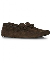 Tod's Laccetto Gommino Carshoe Dark Brown Suede men UK11 - EU45,5 Brun