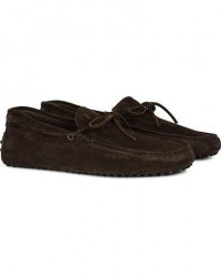 Tod's Laccetto Gommino Carshoe Dark Brown Suede men UK8,5 - EU42,5 Brun