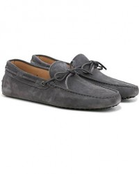 Tod's Laccetto Gommino Carshoe Grey Suede men UK6 - EU39,5