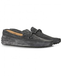 Tod's Laccetto Gommino Carshoe Grey Suede men UK8 - EU42 Grå