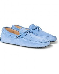 Tod's Laccetto Gommino Carshoe Light Blue Suede men UK9 - EU43 Blå