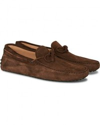 Tod's Laccetto Gommino Carshoe Light Brown Suede men UK6 - EU39,5 Brun