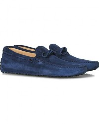 Tod's Laccetto Gommino Carshoe Navy Suede men UK8 - EU42 Blå