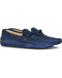Tod's Laccetto Gommino Carshoe Navy Suede men UK9 - EU43 Blå