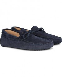 Tod's Laccetto Gommino Carshoe Navy Suede men UK9,5 - EU44 Blå
