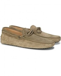 Tod's Laccetto Gommino Carshoe Olive Suede men UK7 - EU41 Grøn