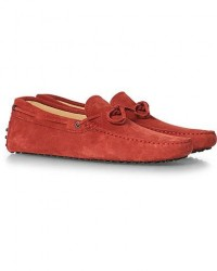 Tod's Laccetto Gommino Carshoe Red Suede men UK9 - EU43 Rød