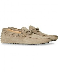 Tod's Laccetto Gommino Carshoe Taupe Suede men UK10 - EU44,5 Beige