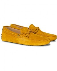 Tod's Laccetto Gommino Carshoe Yellow Suede men UK8 - EU42 Gul