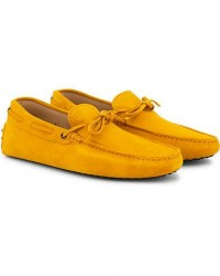 Tod's Laccetto Gommino Carshoe Yellow Suede men UK9 - EU43