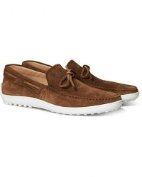 Tod's Laccetto Loafer Brown Suede men UK8 - EU42 Brun