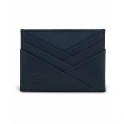 Tod's Origami Credit Card Holder Dark Blue Calf