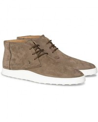 Tod's Polacco Chukka Boot Taupe Nubuck men UK10 - EU44,5 Grå