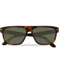Tom Ford Cecilio FT0628 Sunglasses Dark Havana/Green men One size Brun