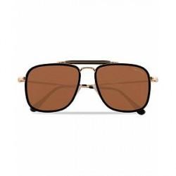 Tom Ford Huck FT0665 Sunglasses Shiny Black/Brown