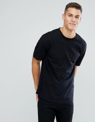 Tom Tailor Boxy Fit T-Shirt With Dropped Shoulder In Black - Black