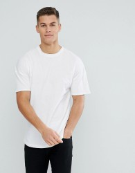 Tom Tailor Boxy Fit T-Shirt With Dropped Shoulder - White