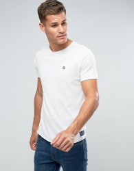 Tom Tailor Crew Neck T-Shirt With Chest Print - White