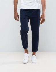 Tom Tailor Cropped Chino With Pleat - Navy