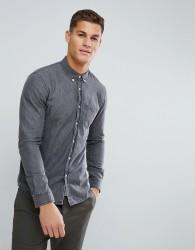 Tom Tailor Denim Shirt In Washed Grey - Grey