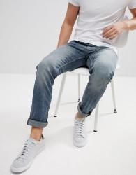 Tom Tailor Jeans In Skinny Fit Worn Denim - Blue