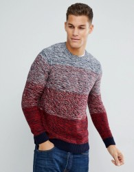 Tom Tailor Jumper With Blue And Red Fade - Red