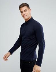 Tom Tailor Long Sleeve Polo Shirt In Navy - Navy
