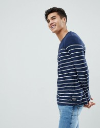 Tom Tailor Long Sleeve Top With Stripe - White