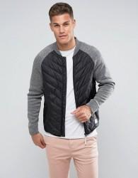 Tom Tailor Padded Jacket With Raglan Sleeves - Black