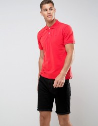 Tom Tailor Polo Shirt With Chest Branding - Red