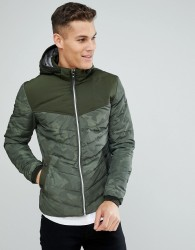 Tom Tailor Puffer In Camo - Green