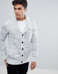 Tom Tailor Shawl Collar Cardigan In Stone - Stone