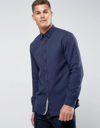 Tom Tailor Shirt In Regular Fit With Texture - Navy