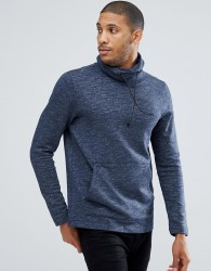 Tom Tailor Sweat With Funnel Neck In Blue - Blue