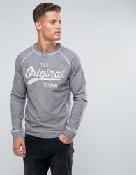 Tom Tailor Sweatshirt With Print - Navy