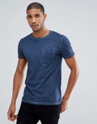 Tom Tailor T-Shirt In Navy Texture With Pocket - Navy