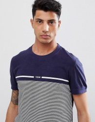 Tom Tailor T-Shirt With Fine Stripe In Blue - Blue