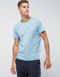 Tom Tailor T-Shirt With Fine Stripe Raw Hem And Pocket - Blue