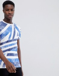 Tom Tailor T-Shirt With Geo Print - Blue