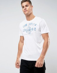Tom Tailor T-Shirt With Graphic Print - White