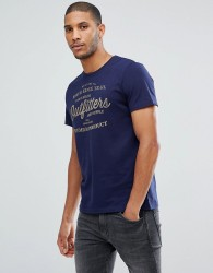 Tom Tailor T-shirt With Heritage Print In Navy - Navy