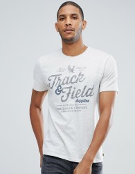 Tom Tailor T-Shirt With Track & Field Print - Stone