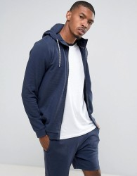 Tom Tailor Zip Through Hoodie - Navy