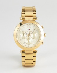 Tommy Hilfiger 1781878 Chronograph Bracelet Watch In Gold 38mm - Gold