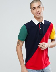 Tommy Hilfiger Aiden Colourblock Short Sleeve Rugby Polo in Navy/Red - Multi
