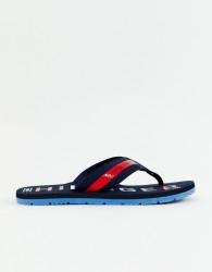 Tommy Hilfiger bold logo beach webbing flip flop in navy - Navy