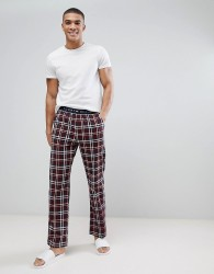Tommy Hilfiger Check Lounge Pants in Wine Red - Red